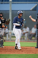 GCL Rays Luis Perez (24) during a Gulf Coast League game against the GCL Pirates on August 7, 2019 at Charlotte Sports Park in Port Charlotte, Florida.  GCL Rays defeated the GCL Pirates 5-3 in the second game of a doubleheader.  (Mike Janes/Four Seam Images)