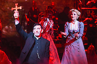 """Jimmy Nail and Heidi Range<br /> in the musical of """"The War of the Worlds"""" at the Dominion Theatre, London.<br /> <br /> <br /> ©Ash Knotek  D3083 12/02/2016"""