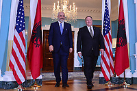 Washington, DC - February 5, 2020: US Secretary of State Mike Pompeo meets with Albanian Prime Minister Edi Rama at the State Department in Washington February 5, 2020.  (Photo by Don Baxter/Media Images International)