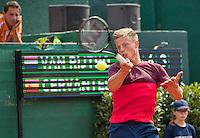 The Hague, Netherlands, 26 July, 2016, Tennis,  The Hague Open ,Tim van Rijthoven (NED) left his coach Paul Haarhuis<br /> Photo: Henk Koster/tennisimages.com