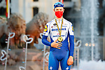 Remi Cavagna (FRA) Deceuninck-Quick Step is awarded the most combative rider of La Vuelta at the end of Stage 18 of the Vuelta Espana 2020, running 139.6km from Hipódromo de La Zarzuela to Madrid, Spain. 8th November 2020. <br /> Picture: Luis Angel Gomez/PhotoSportGomez | Cyclefile<br /> <br /> All photos usage must carry mandatory copyright credit (© Cyclefile | Luis Angel Gomez/PhotoSportGomez)