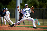 Dartmouth Big Green relief pitcher Austen Michel (35) delivers a pitch during a game against the Villanova Wildcats on March 3, 2018 at North Charlotte Regional Park in Port Charlotte, Florida.  Dartmouth defeated Villanova 12-7.  (Mike Janes/Four Seam Images)