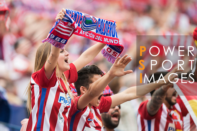 Atletico de Madrid's fans support their team during their La Liga match between Atletico de Madrid ivs Athletic de Bilbao at the Estadio Vicente Calderon on 21 May 2017 in Madrid, Spain. Photo by Diego Gonzalez Souto / Power Sport Images