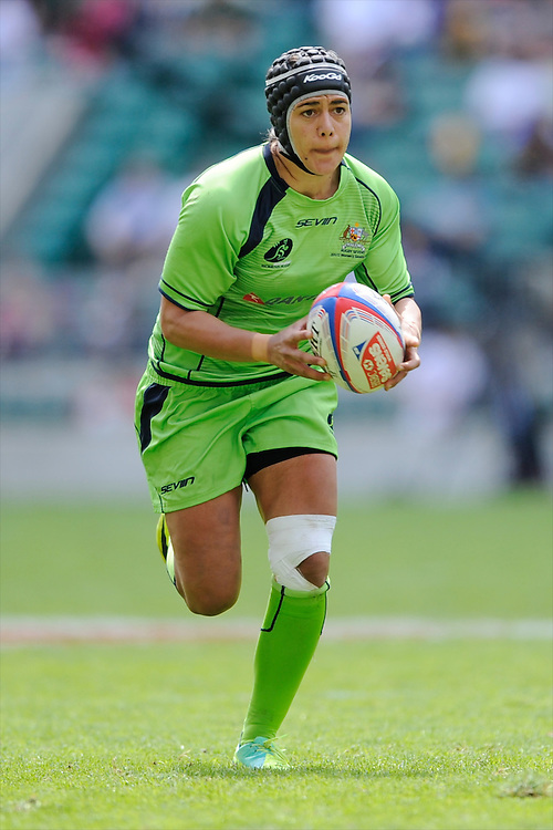 Amy Turner of Australia in action during the iRB Challenge Cup at Twickenham on Sunday 13th May 2012 (Photo by Rob Munro)