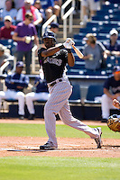 March 13, 2010 - Colorado Rockies' Dexter Fowler #24 at-bat during a spring training game against the Milwaukee Brewers at Maryvale Baseball Park in Phoenix, Arizona.
