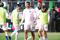 WASHINGTON, DC - MARCH 07: Roman Torres #29 of Inter Miami CF during pre game warmups during a game between Inter Miami CF and D.C. United at Audi Field on March 07, 2020 in Washington, DC.