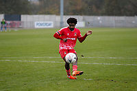 8th November 2020; SkyEx Community Stadium, London, England; Football Association Cup, Hayes and Yeading United versus Carlisle United; Omar Rowe of Hayes & Yeading United during the penalty shoot out