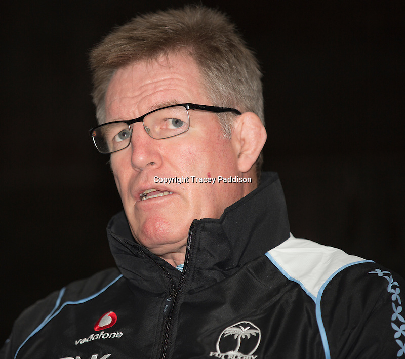 Wednesday 12 November 2014<br /> Pictured: John McKee<br /> Re: Vodafone Flying Fijians coach John McKee during a press conference at the Park Plaza Hotel, Cardiff ahead of the match against Wales on Saturday 15th November
