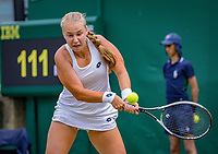 London, England, 4 th. July, 2018, Tennis,  Wimbledon, Womans singles second round, Anna Blinkova (RUS)<br /> Photo: Henk Koster/tennisimages.com