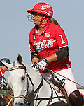 WELLINGTON, FL - FEBRUARY 12:  Gillian Johnston of Coca Cola is the MVP of the game. Scenes from the Ylvisaker Cup during Sunday's Feature Match, Coca Cola vs Valiente II, at the International Polo Club, Palm Beach on February 12, 2017 in Wellington, Florida. (Photo by Liz Lamont/Eclipse Sportswire/Getty Images)