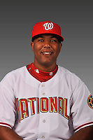 14 March 2008: ..Portrait of Angel De Castro, Washington Nationals Minor League player at Spring Training Camp 2008..Mandatory Photo Credit: Ed Wolfstein Photo
