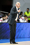 Real Madrid's coach Pablo Laso during Euroleague match.March 27,2015. (ALTERPHOTOS/Acero)