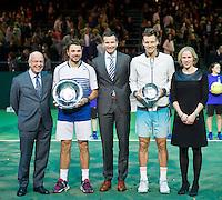 Februari 15, 2015, Netherlands, Rotterdam, Ahoy, ABN AMRO World Tennis Tournament, Tomas Berdych (CZE) - Stan Wawrinka (SUI)<br /> Photo: Tennisimages/Henk Koster
