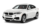 2018 BMW X6 sDrive35i 5 Door SUV Angular Front stock photos of front three quarter view