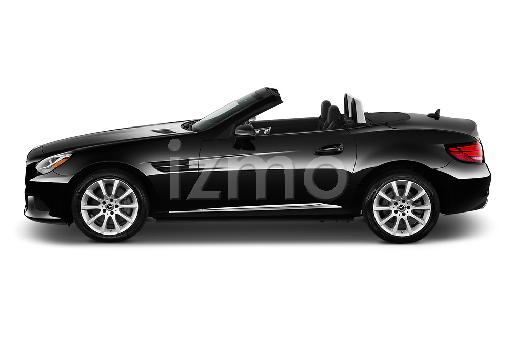 Car driver side profile view of a 2019 Mercedes Benz SLC Roadster SLC300 2 Door Convertible