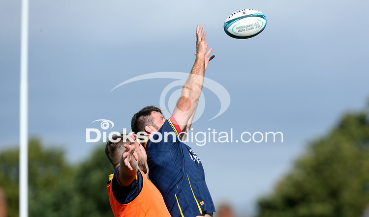 Wednesday 22nd September 2021<br /> <br /> Alan O'Connor during Ulster Rugby training at Perrie Park, Belfast, Northern Ireland. Photo by John Dickson/Dicksondigital