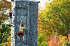 Oct. 7, 2011; Kids climb the climbing wall at the Irish Green...Photo by Matt Cashore/University of Notre Dame