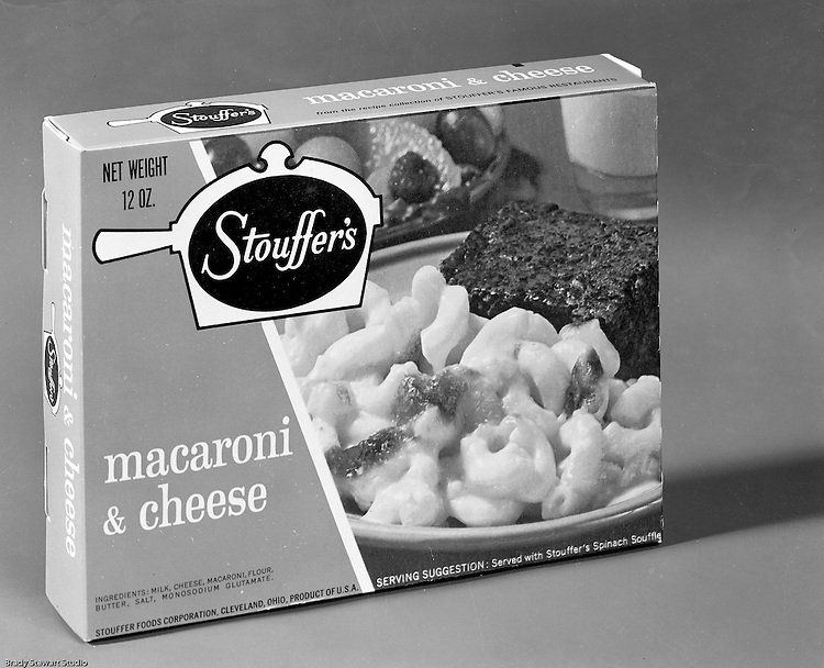 Client: Stouffer's Foods<br /> Ad Agency: Ketchum Macleod & Grove<br /> Contact: Dana Gilpin<br /> Product: Stouffer's Frozen Foods<br /> Location: Brady Stewart Studio, 211 Empire Building on Liberty Avenue in Pittsburgh<br /> <br /> The family's frozen food business began in the 1940s when customers started asking for frozen versions of the meals served in the restaurants. The Stouffers sold their company to Litton Industries in 1967, who in turn sold it to Nestlé in 1973. Nestle Foods has created a campus-like area at the headquarters in Solon, Ohio.