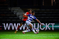 21st April 2021; Kenilworth Road, Luton, Bedfordshire, England; English Football League Championship Football, Luton Town versus Reading; Josh Laurent of Reading in action. Closely watched by Harry Cornick of Luton Town.