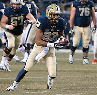 Pitt wide receiver Tyler Boyd. The Miami Hurricanes defeated the Pitt Panthers 41-31 at Heinz Field, Pittsburgh, Pennsylvania on November 29, 2013.