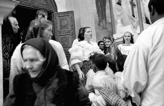 ROMANIA, Maramures, August 2002..Assumption celebration in the Maramures..ROUMANIE, Maramures, Aout 2002..Fete de l'Assomption dan sle Maramures..© Bruno Cogez