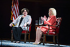 Sept. 2, 2015; U.S. Supreme Court Justice Sonia Sotomayor talks about her career with NBC News correspondent Anne Thompson in the Leighton Concert Hall of the University of Notre Dame's DeBartolo Performing Arts Center. (Photo by Barbara Johnston/University of Notre Dame)