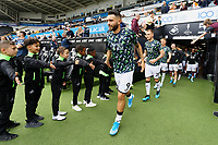 Borja Baston of Swansea City exits the tunnel during the Sky Bet Championship match between Swansea City and Preston North End at the Liberty Stadium, Swansea, Wales, UK. Saturday 17 August 2019