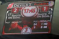 Soreboard auf dem Videowuerfel<br /> New Jersey Devils vs. Florida Panthers<br /> *** Local Caption *** Foto ist honorarpflichtig! zzgl. gesetzl. MwSt. Auf Anfrage in hoeherer Qualitaet/Aufloesung. Belegexemplar an: Marc Schueler, Am Ziegelfalltor 4, 64625 Bensheim, Tel. +49 (0) 6251 86 96 134, www.gameday-mediaservices.de. Email: marc.schueler@gameday-mediaservices.de, Bankverbindung: Volksbank Bergstrasse, Kto.: 151297, BLZ: 50960101