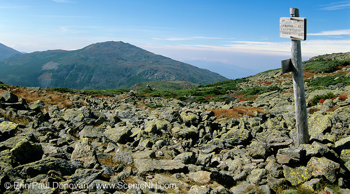 Mount Jefferson from the Appalachian Trail (Gulfside Trail) in the Presidential Range of the New Hampshire White Mountains.