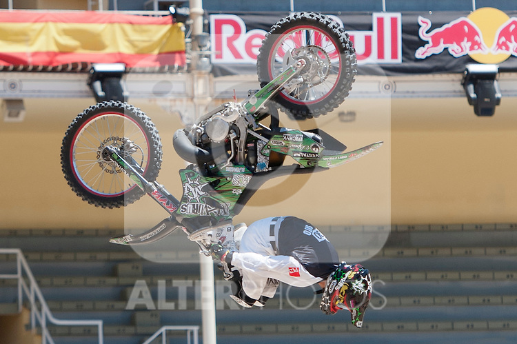 Training Red Bull X-Fighters 2012. Madrid. Rider In the picture Eigo Sato JAP. July 19, 2012. (ALTERPHOTOS/Ricky Blanco)