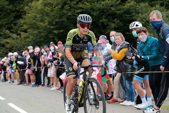 Esteban Chaves (COL) Mitchelton-Scott climbs Col de Marie Blanque during Stage 9 of Tour de France 2020, running 153km from Pau to Laruns, France. 6th September 2020. <br /> Picture: Colin Flockton | Cyclefile<br /> All photos usage must carry mandatory copyright credit (© Cyclefile | Colin Flockton)