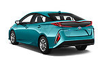 Car pictures of rear three quarter view of 2019 Toyota Prius-Plug-in-Hybride Comfort 5 Door Hatchback Angular Rear