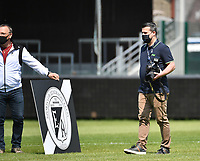 photographer Kenneth Demaret pictured during a female soccer game between Eendracht Aalst and Racing Genk on the 10 th and last matchday of play off 2 of the 2020 - 2021 season of Belgian Scooore Womens Super League , Saturday 29 st of May 2021  in Aalst , Belgium . PHOTO SPORTPIX.BE | SPP | DAVID CATRY