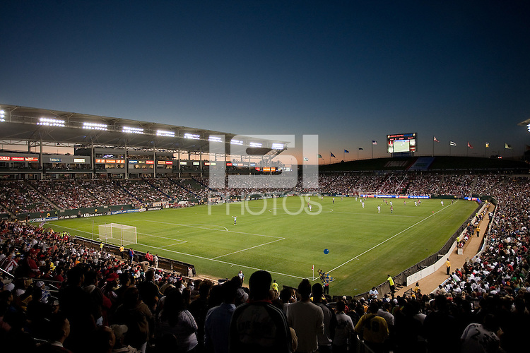 Home Depot Center. The LA Galaxy defeated Chivas USA 1-0 at Home Depot Center stadium in Carson, California Saturday evening July 11, 2009.