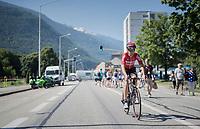 Tony Gallopin (FRA/Lotto-Soudal) to the start<br /> <br /> 69th Critérium du Dauphiné 2017<br /> Stage 8: Albertville > Plateau de Solaison (115km)