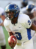 Armwood Hawks quarterback Alvin Bailey #3 looks upfield on a run during the fourth quarter of the Florida High School Athletic Association 6A Championship Game at Florida's Citrus Bowl on December 17, 2011 in Orlando, Florida.  Armwood defeated Miami Central 40-31.  (Photo By Mike Janes Photography)