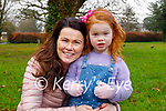 Sandra Ryle and Molly Mae O'Connor enjoying the Tralee town park on Sunday.