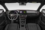Stock photo of straight dashboard view of 2021 Cupra Leon - 5 Door Hatchback Dashboard
