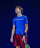 Hilversum, Netherlands, December 3, 2017, Winter Youth Circuit Masters, 12,14,and 16, years, Luka Novakovic  (NED) (NED)<br /> Photo: Tennisimages/Henk Koster