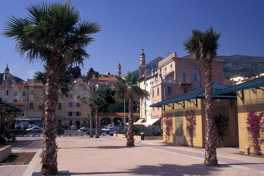 France, Menton, Cote d' Azur, Alpes-Maritimes, Europe, Old Town of Menton