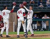 STANFORD, CA - JUNE 5: Eddie Park, Christian Robinson, Brock Jones during a game between UC Irvine and Stanford Baseball at Sunken Diamond on June 5, 2021 in Stanford, California.