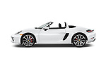 Car Driver side profile view of a 2017 Porsche 718 Boxster-S 2 Door Convertible Side View