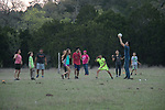Playing ball - all together - all ages - from all over Austin