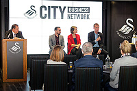 Pictured: (L-R) Kevin John, Leon Britton, Michelle Owen and Graham Potter. Thursday 27 September 2018<br /> Re: Swansea City AFC Business Networking event at the Liberty Stadium, Wales, UK.