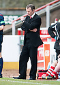 Stirling Albion Manager Stuart McLaren watches as his team slide closer to relegation.