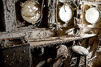 """The cabin has seen better days. John Steinbeck's marine specimen collection expedition aboard the Western Flyer was the basis for his non-fiction novel, """"The Sea of Cortez."""" <br /> <br /> A view of the Western Flyer ship once owned by  the author John Steinbeck, and now by John Gregg. After many failed attempts, the craft is being restored by Michael Hemp at a dry dock in Port Townsend, Washington. In 1940, Steinbeck and a small crew navigated the Western Flyer on a successful, yet sometimes ill-fated marine specimen collection expedition along the Gulf of California. The adventures served as inspiration for Steinbeck's prized non-fiction book, """"The Log from Sea of Cortez."""" Photo by Daniel Berman for Seattle Weekly."""