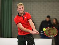 Rotterdam, Netherlands, Januari 24, 2016,  ABNAMROWTT Supermatch, Glenn Smits (NED)<br /> Photo: Tennisimages/Henk Koster