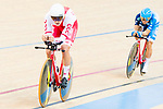 Szymon Sajnok of the Poland team and Ko Siu Wai of the Hong Kong team competes in the Men's Individual Pursuit - Qualifying as part of the 2017 UCI Track Cycling World Championships on 14 April 2017, in Hong Kong Velodrome, Hong Kong, China. Photo by Marcio Rodrigo Machado / Power Sport Images