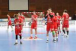 Niedergeschlagen die Die Eulen nach der Niederlage beim Spiel in der Handball Bundesliga, Die Eulen Ludwigshafen - Tusem Essen.<br /> <br /> Foto © PIX-Sportfotos *** Foto ist honorarpflichtig! *** Auf Anfrage in hoeherer Qualitaet/Aufloesung. Belegexemplar erbeten. Veroeffentlichung ausschliesslich fuer journalistisch-publizistische Zwecke. For editorial use only.