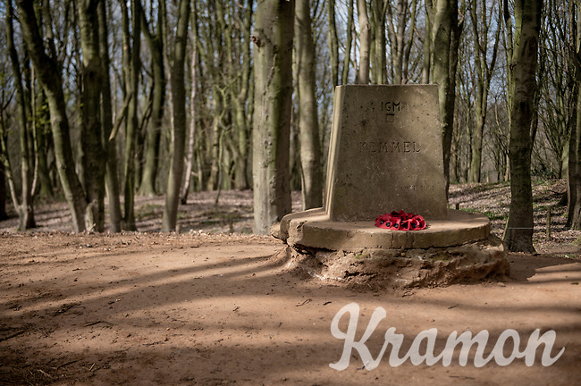 Empty (cobbled) roads up the infamous (WW1 Memorial) Kemmelberg on race day…<br />